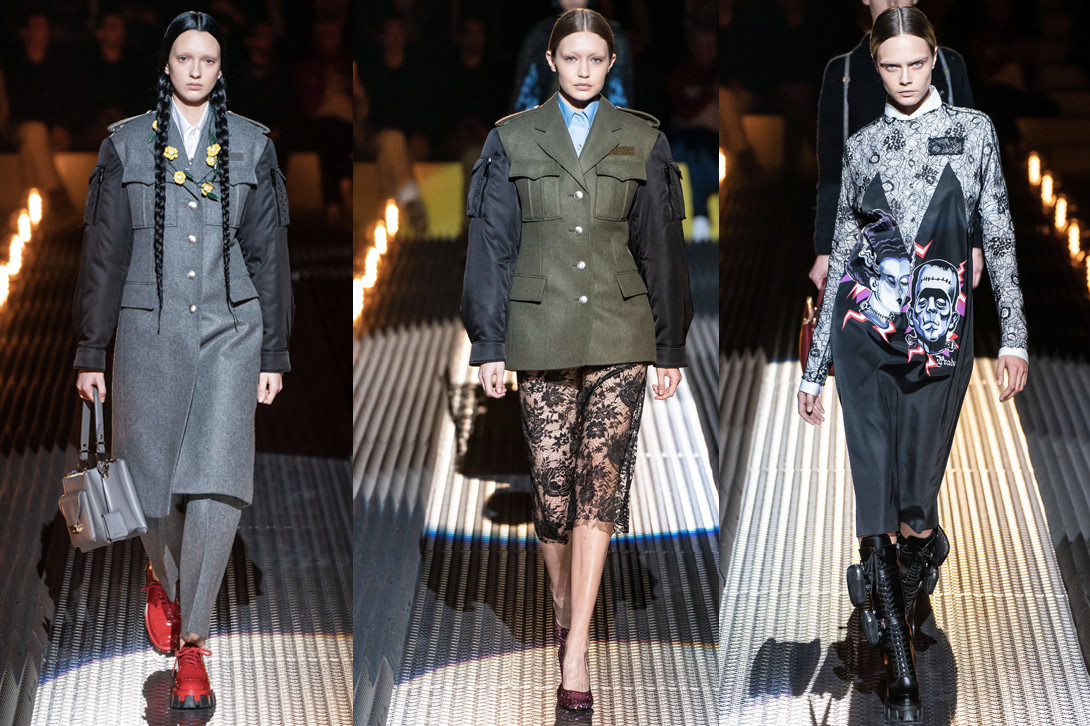Best Shows at Milan Fashion Week Fall/Winter 19 Prada Fendi Max Mara Moschino Jeremy Scott Karl Lagerfeld FW19