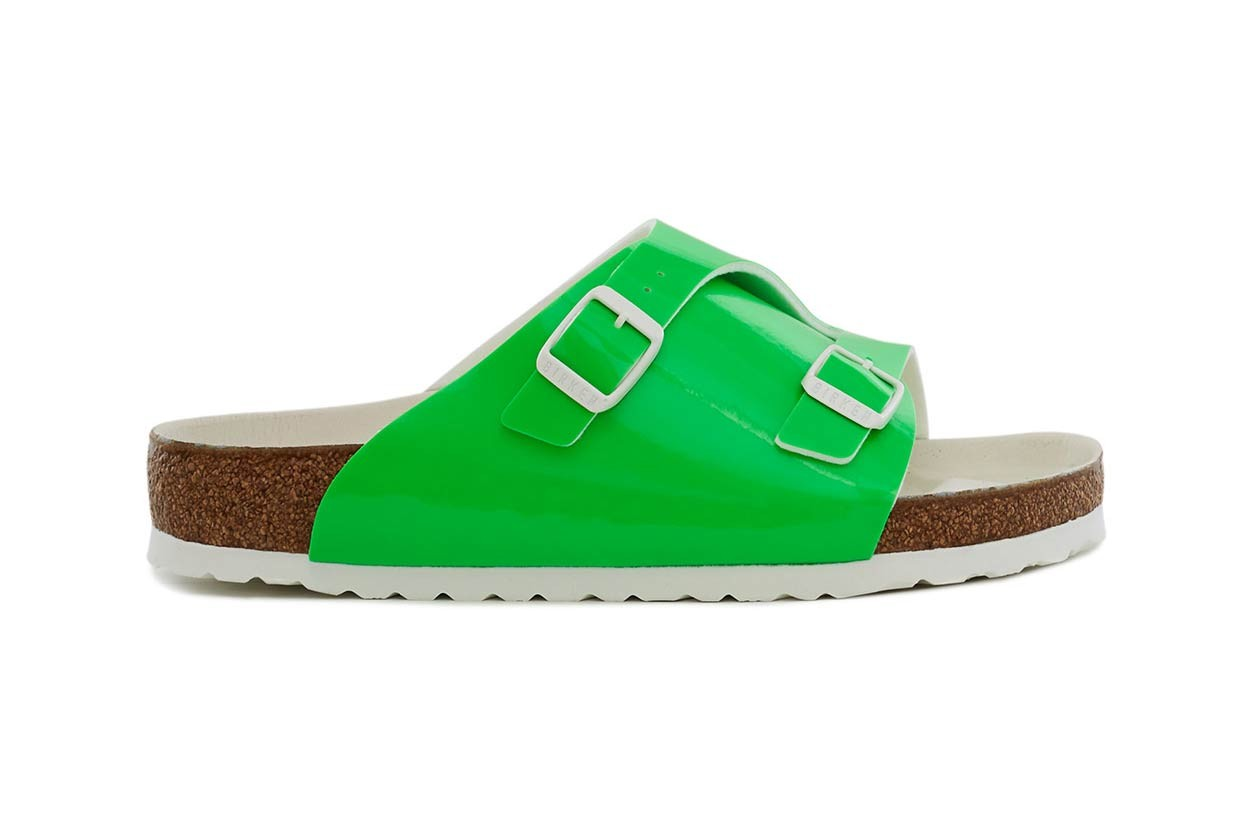 Opening Ceremony Birkenstock Sandals Pink Green Yellow
