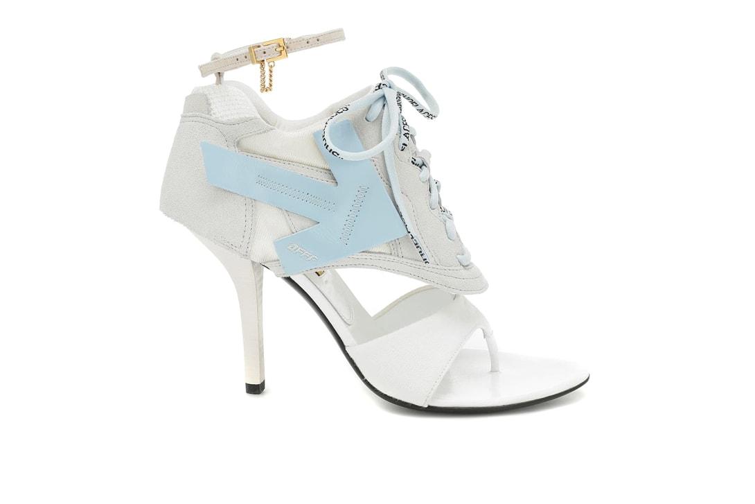 Off-White Heeled Runner Leather Sandals White Jacquemus Noli Leather Simon Miller Blackout Platform Green Prada PVC Heeled Blue