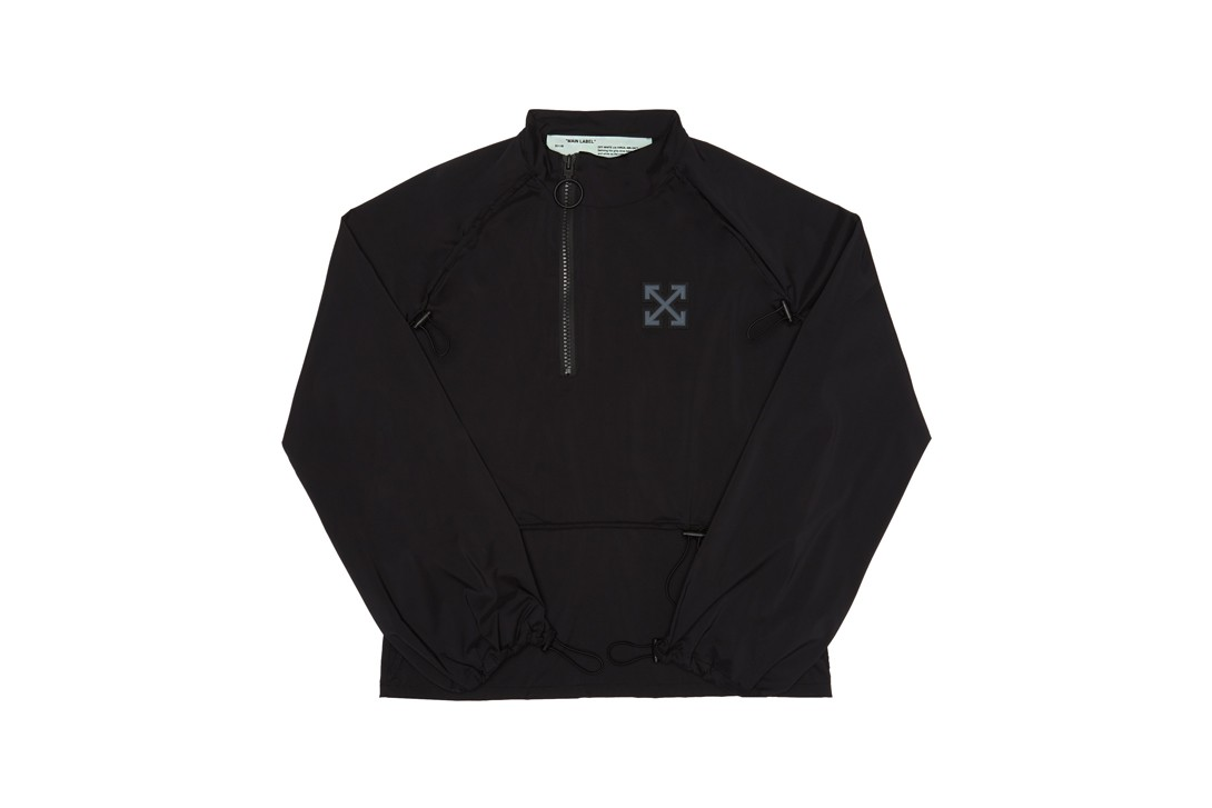 Off-White SSENSE Workout Collection Long Sleeve Jacket T-shirt Black