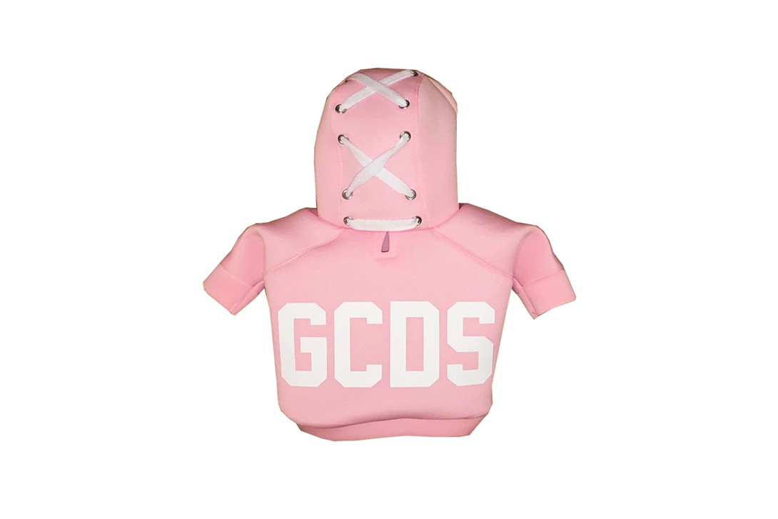 Very Important Puppies GCDS Pet Collaboration Poop Bag Carrier T-shirt Pink