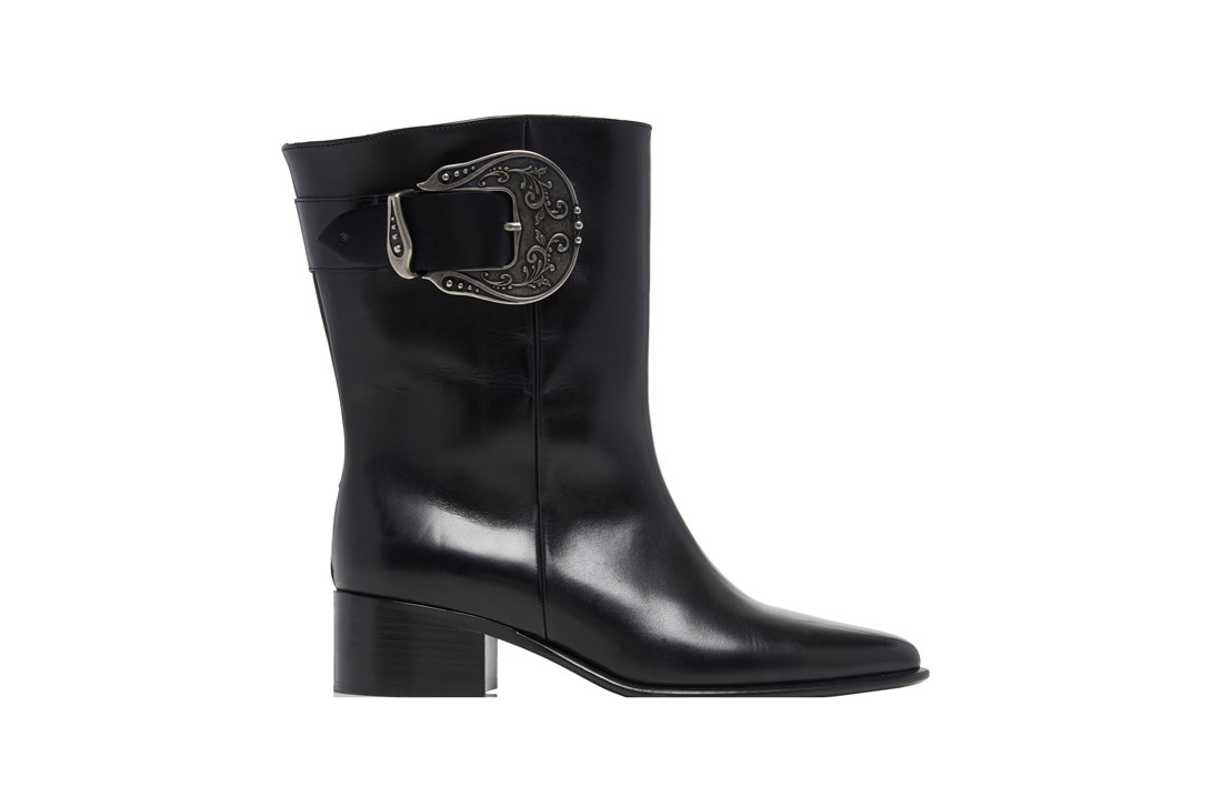 Calvin Klein 205W39NYC Leather Cowboy Boots Valentino Gravami Ranch 40 Applique Black Givenchy Laser-Cut White Western Trend