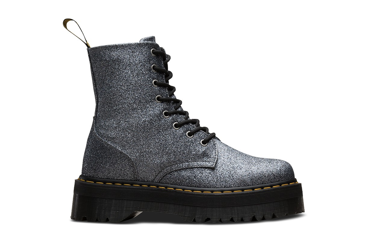 Dr. Martens Boots Festival Shoe Collection Yellow Platform Glitter Leather Music Fashion