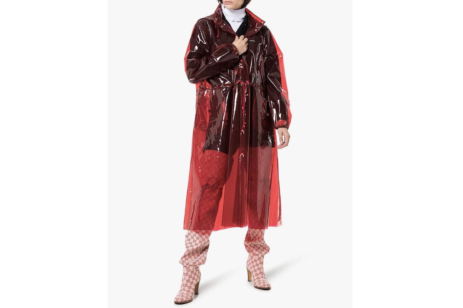 Festival Fashion Season Boots Coats Rain Balenciaga GANNI Burberry Marine Serre Rains Jacket Wellies