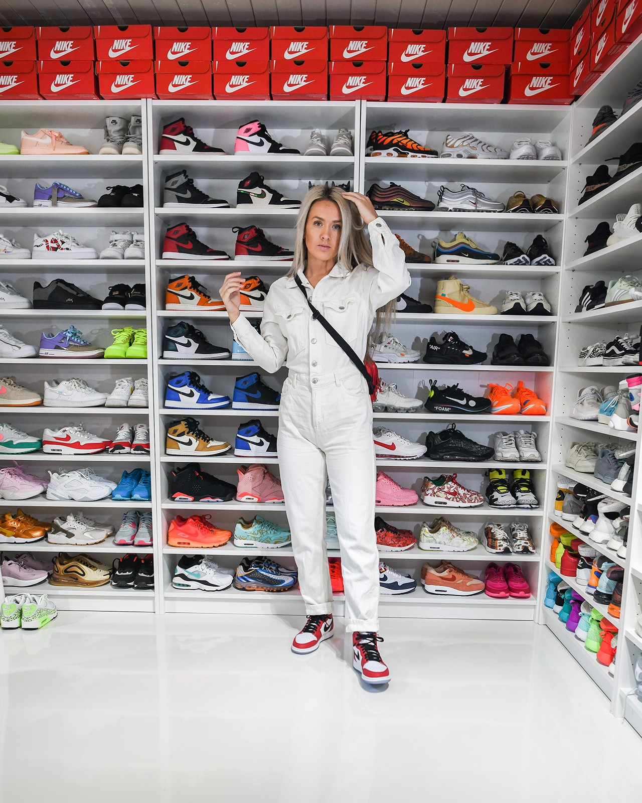 Hanna Helsø Norway Sneaker Collector Stjørdal Nike Air Jordan Sneaker Closet Shoe Footwear Shelf Hypebae Scandinavia Shoes Kicks Trainers