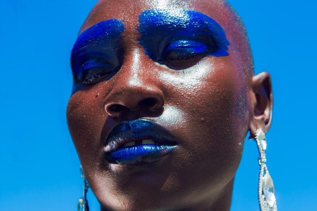 Mata Labs Beauty Campaign Eyeshadow Lipstick Blue