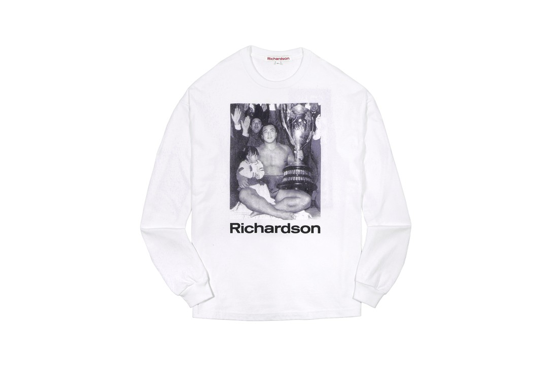 Chiyonofuji Mitsugu x Richardson Capsule Lookbook Kozue Akimoto Hoodie Black White