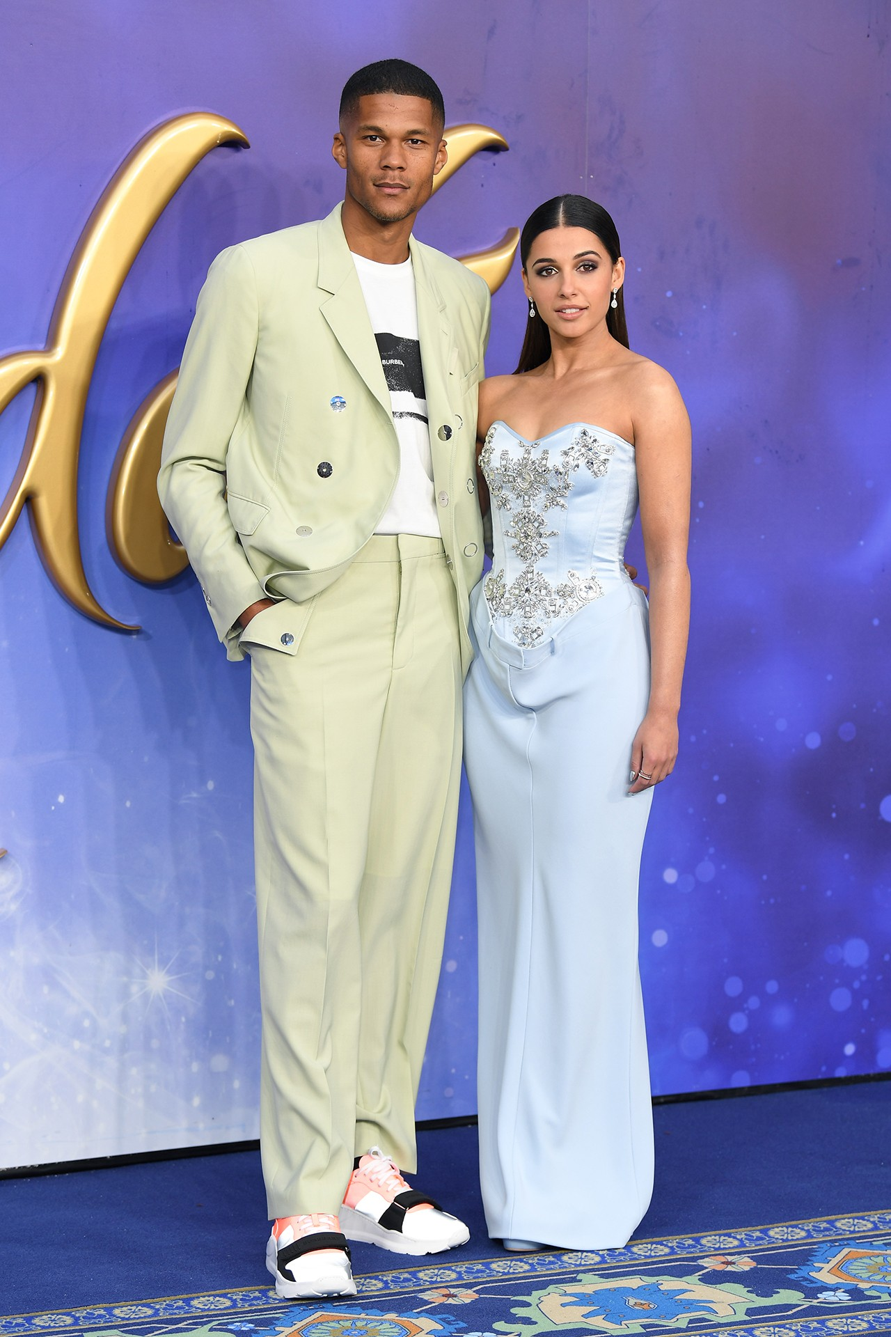 Naomi Scott Princess Jasmine Actress Aladdin Disney Live Action Movie Film 2019 Premiere Berlin Red Carpet Valentino Dress Orange