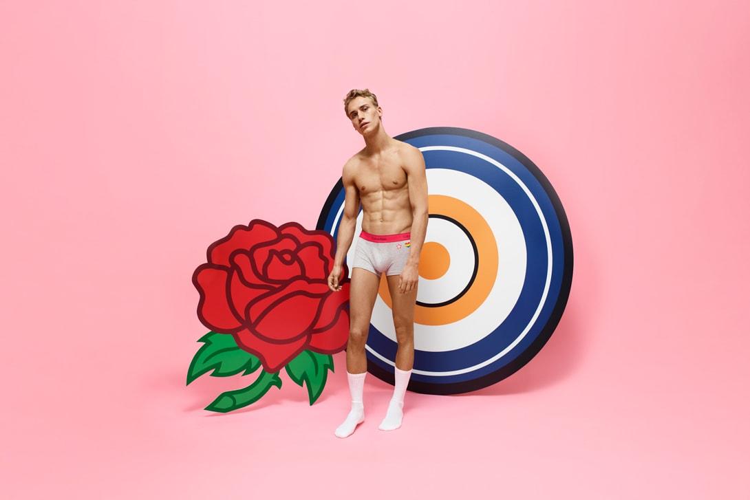 Calvin Klein #MYCALVINS CUSTOM Campaign Bella Hadid Underwear Sports Bra Red