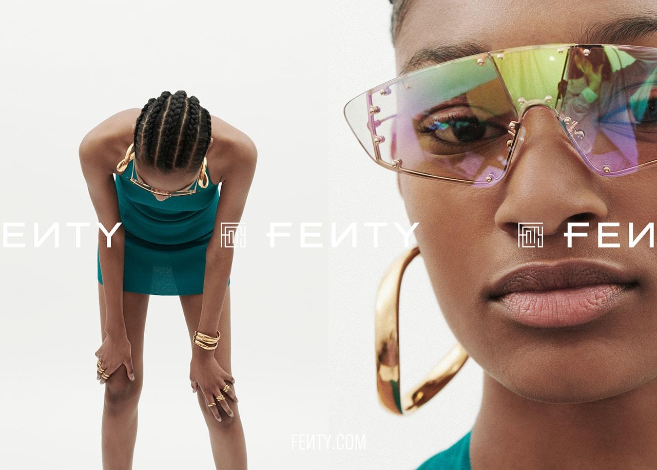 Rihanna FENTY Release 6-19 Campaign Lookbook Dress Headscarf LVMH Maison Accessories Jewelry Ready to Wear Summer 2019