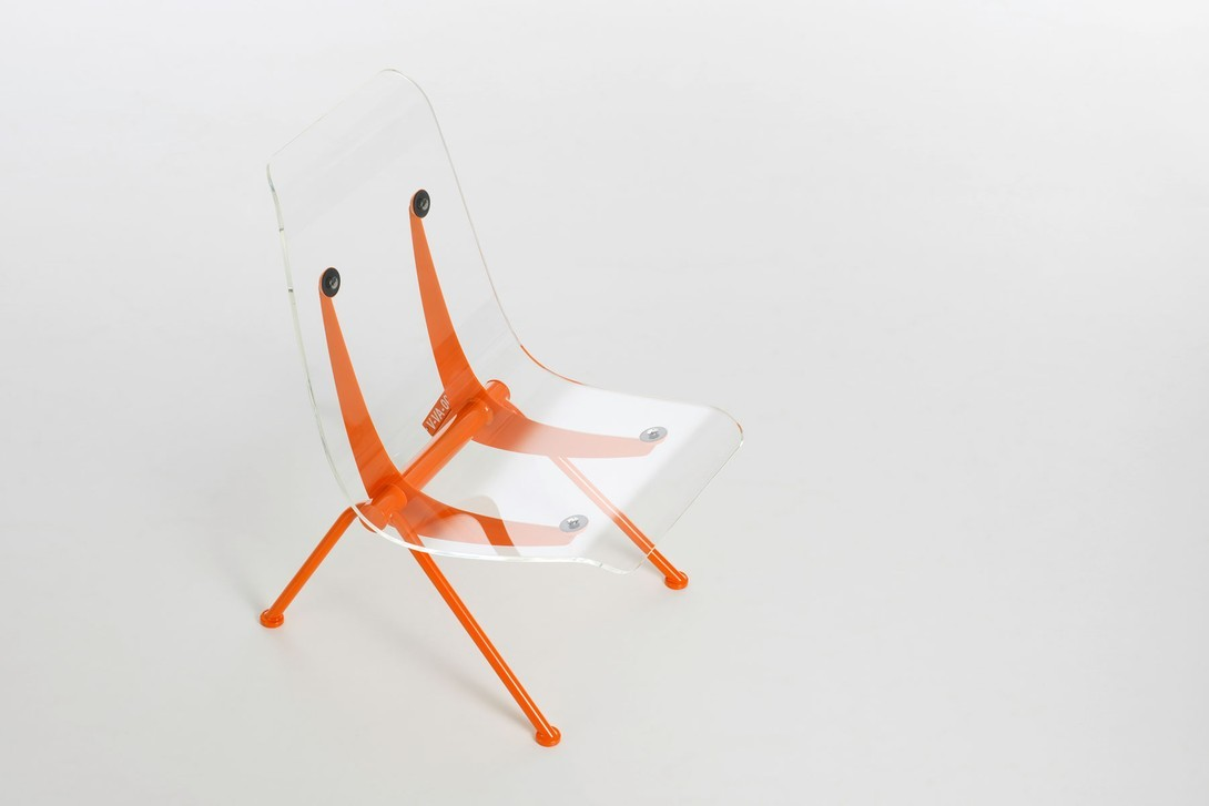 Virgil Abloh x Vitra Art Exhibition Chair Lamp Orange