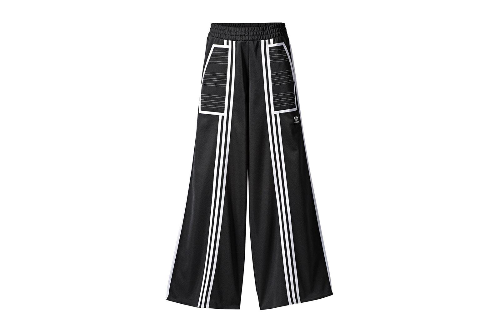 adidas originals ji won choi collab drop release tracksuit pants trousers bikini swimsuit interview designer korea