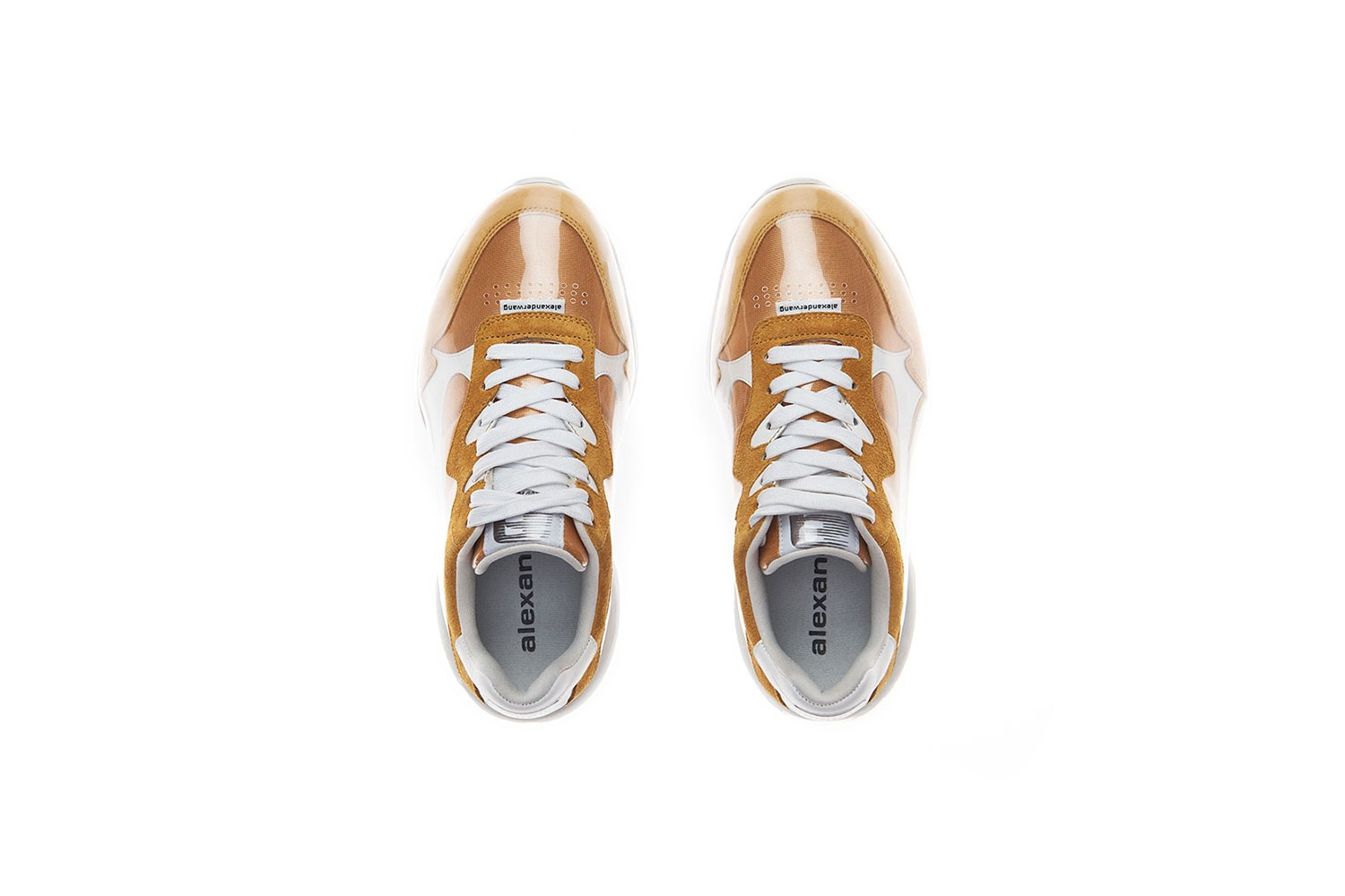 alexander wang rickey thompson white sneaker pvc infomercial campaign black mineral yellow footwear