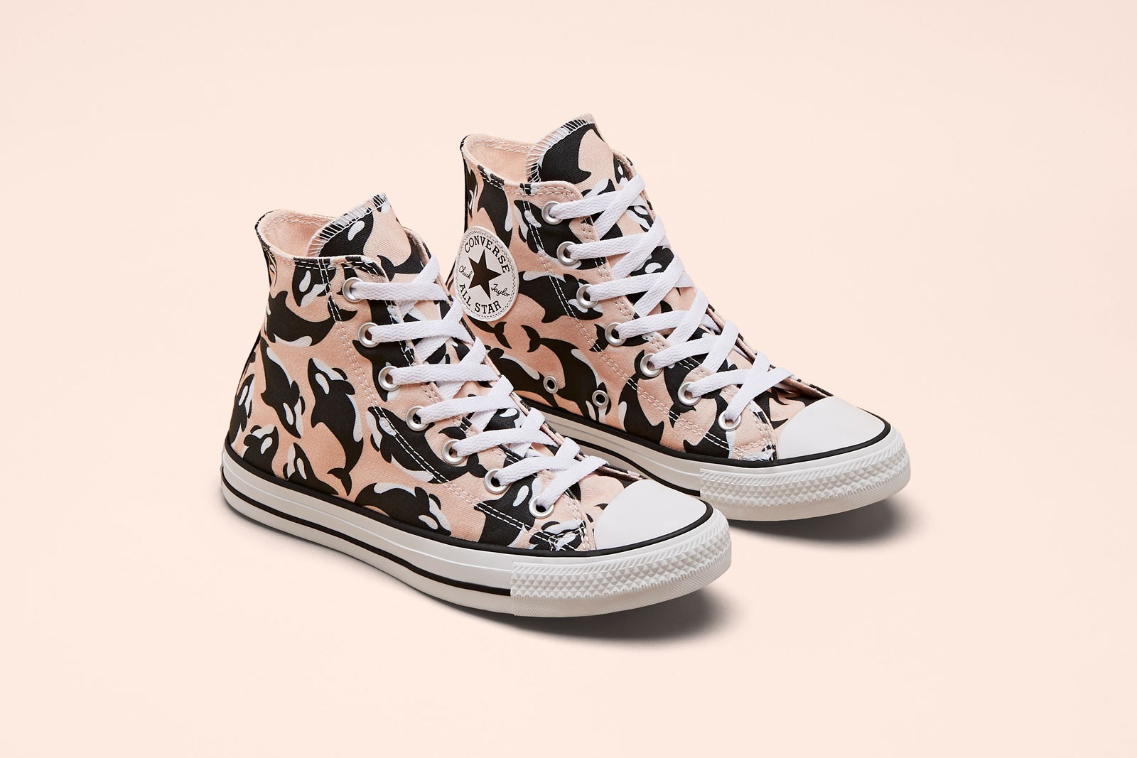 Millie Bobby Brown x Converse By You Chuck Taylor All Star Hi Whale Blue Pink Yellow Sneaker