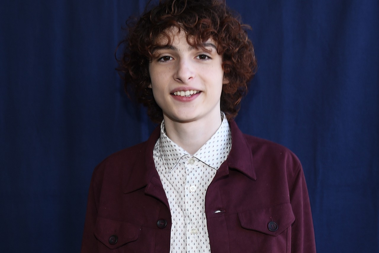 Finn Wolfhard Stranger Things Season 3 Premiere Suit Black Tie Hair Curley Mike Wheeler Netflix Actor Musician Paris