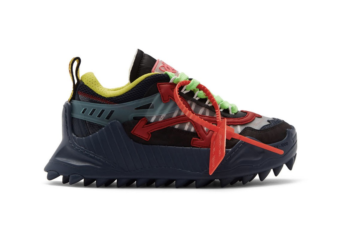 Off-White™ ODSY-1000 Spiked Industrial Sneaker Release Chunky Trainer