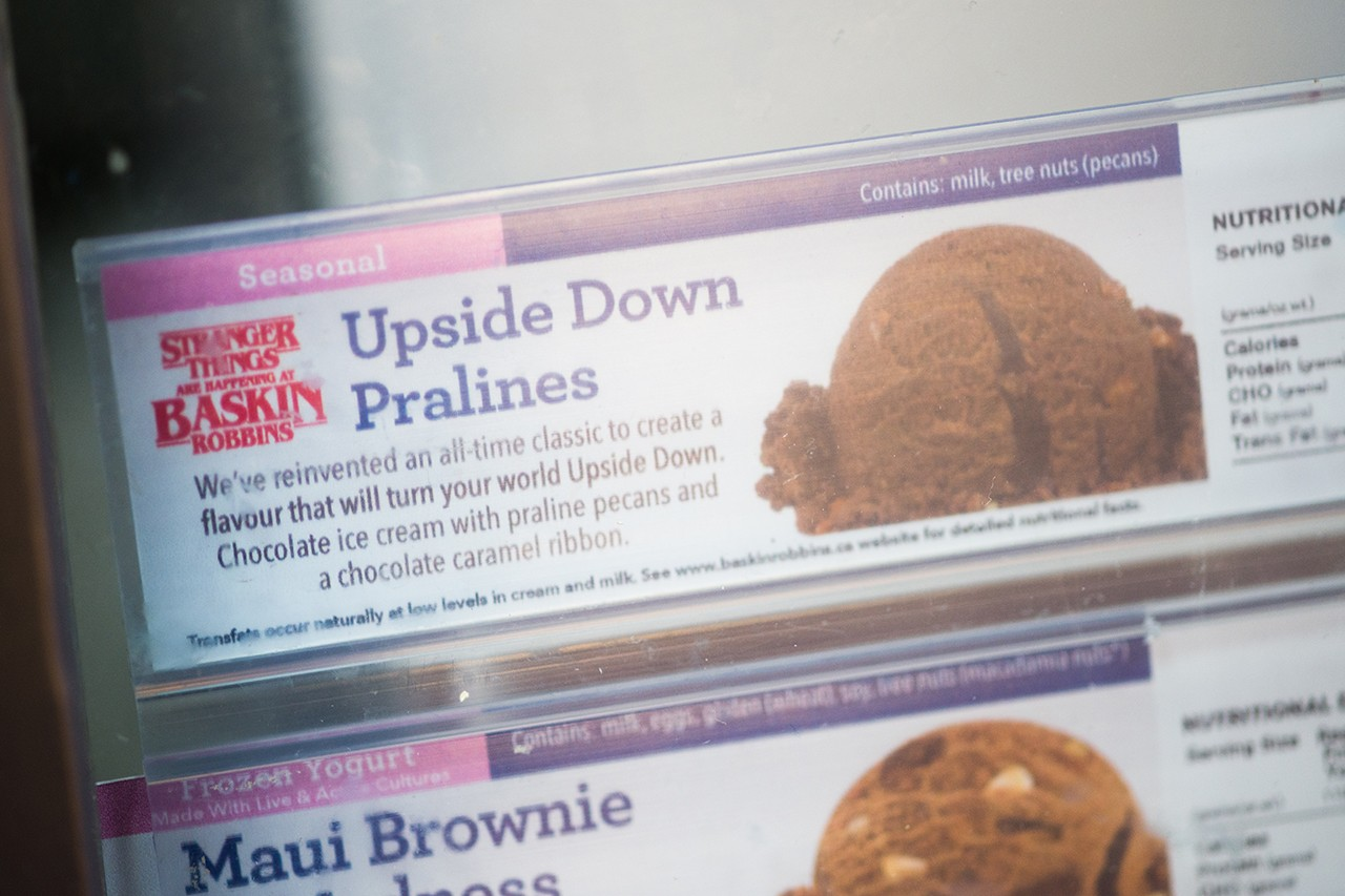 Stranger Things Netflix Baskin Robbins Ice Cream Upside Down Sundae Chocolate Waffle Poster