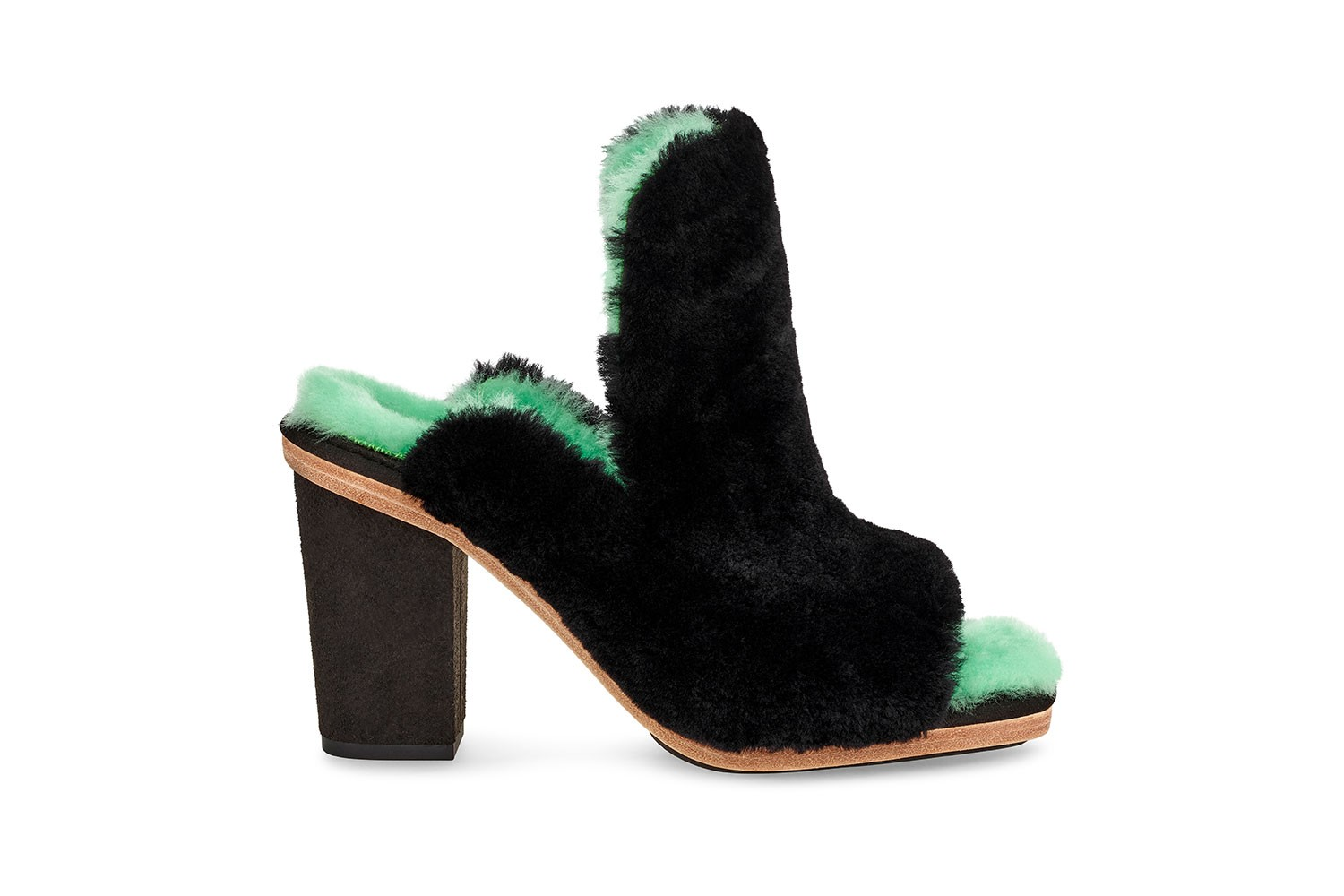 ugg eckhaus latta fall winter campaign collaboration boots fur coats shawls outerwear