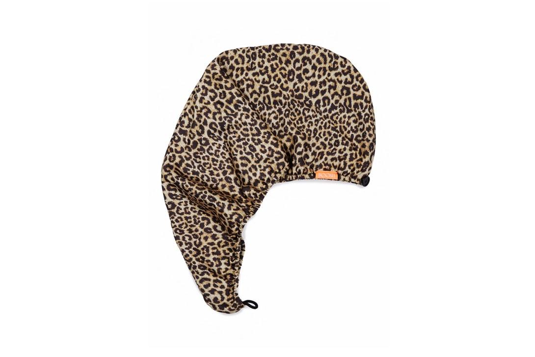 Kourtney Kardashian Poosh x AQUIS Hair Turban Collaboration Leopard Brown Black