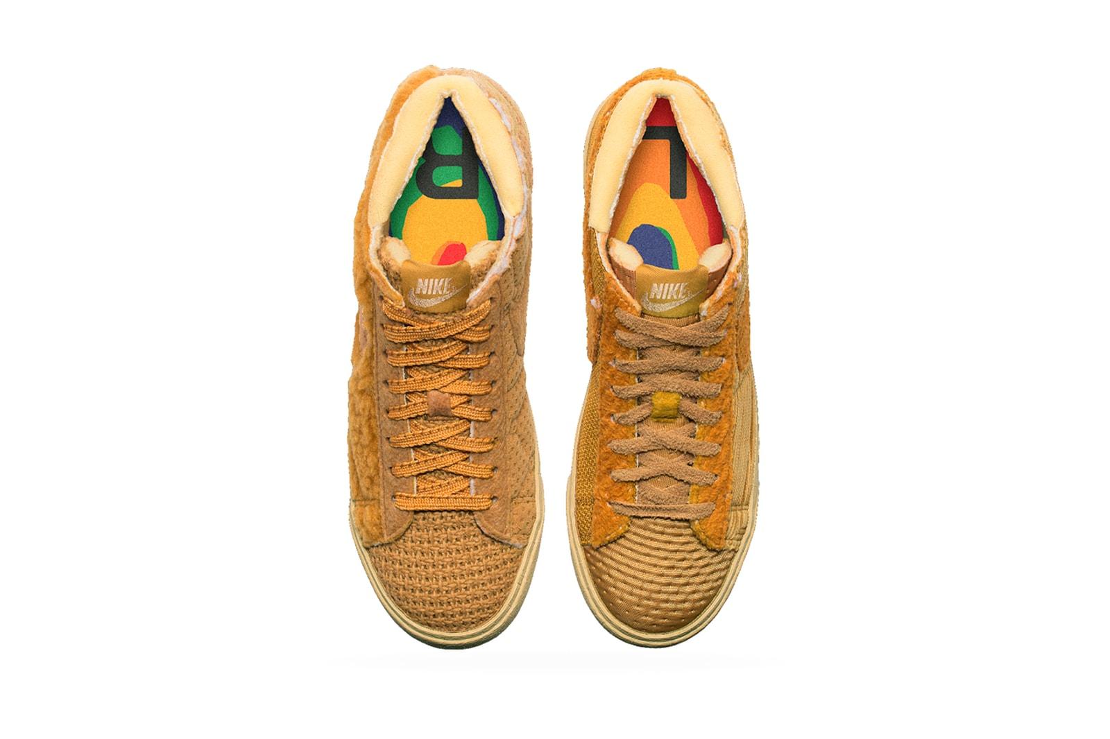 nike blazer cpfm cactus plant flea market sponge by you sneakers fleece brown release date shoes footwear sneakerhead