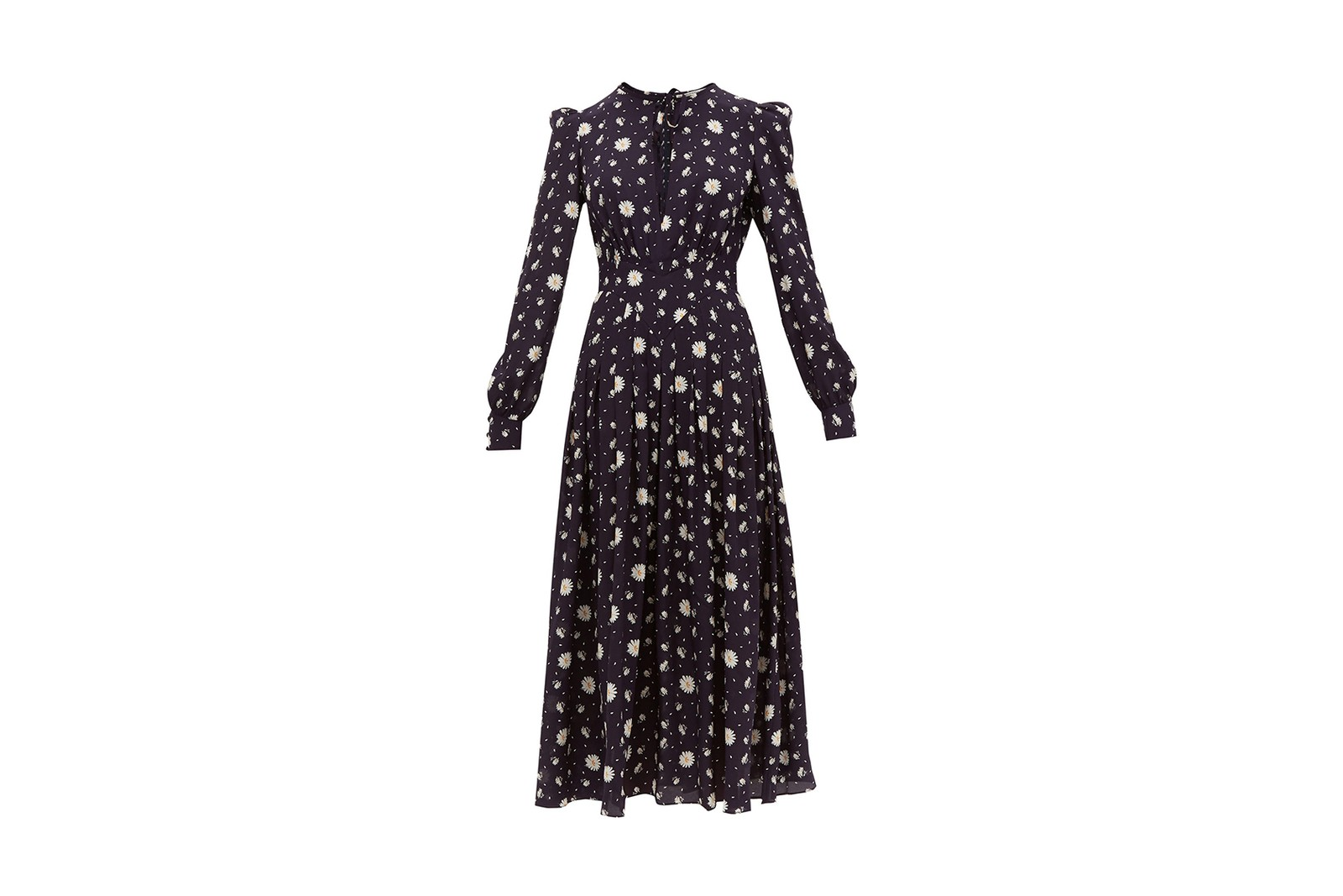 prairie dress dries van noten western ruffles high neck puffed sleeves floral victorian