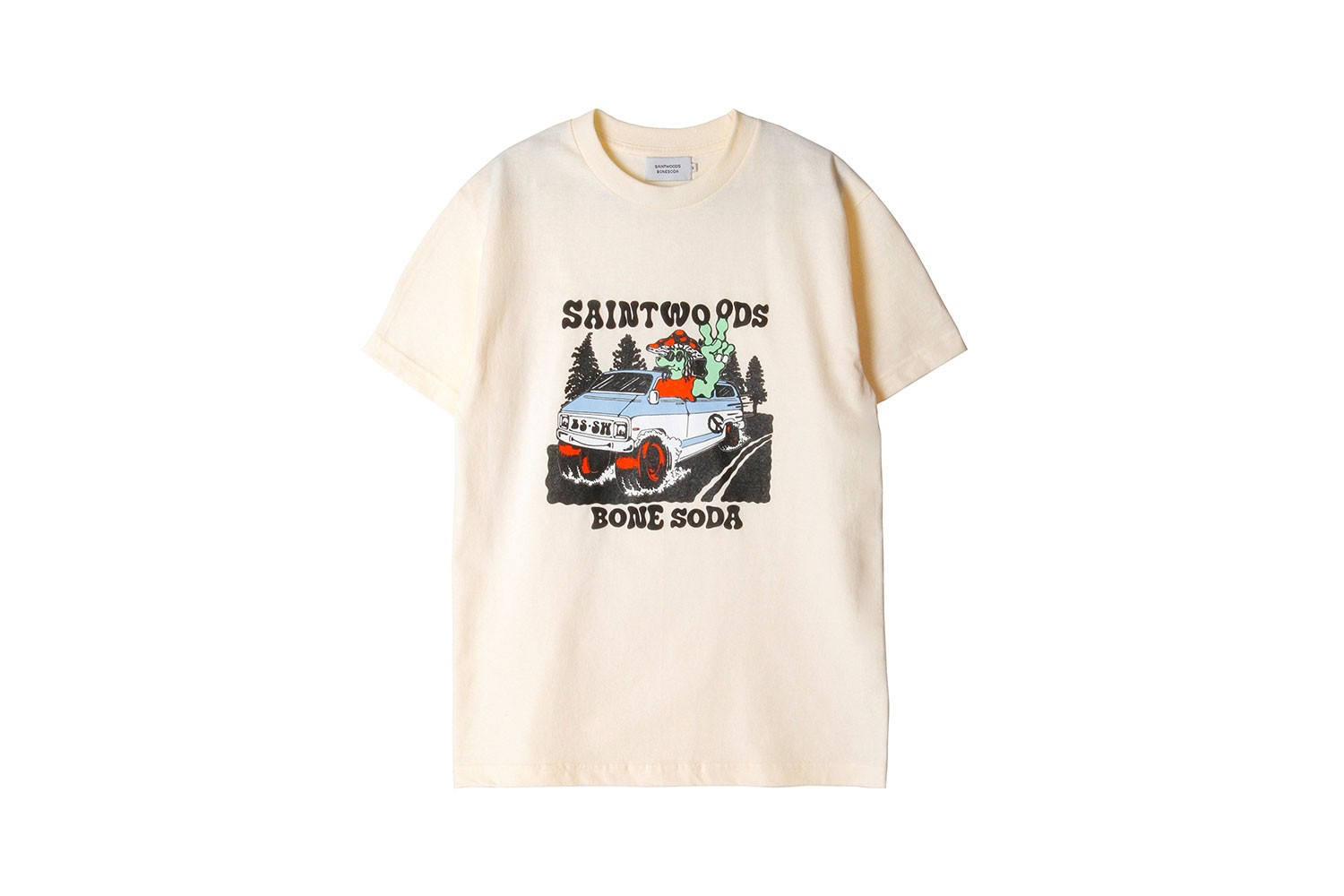 saintwoods bone soda collaboration womens t-shirts long sleeves hoodies tote bags
