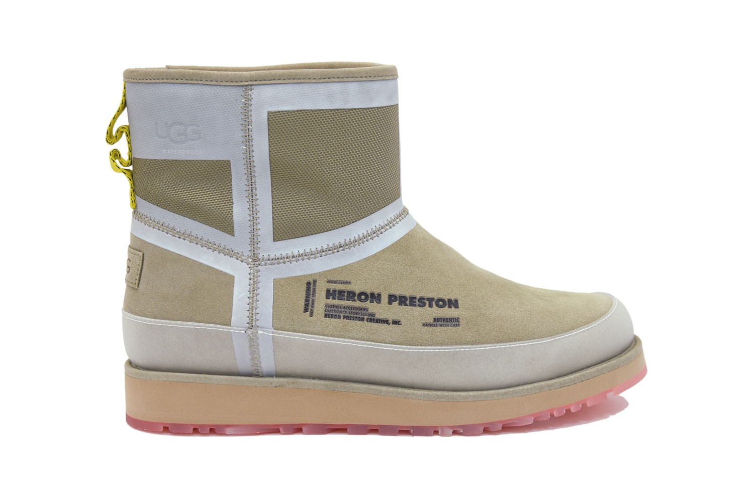 ugg heron preston boots collaboration classic mini tasman slippers
