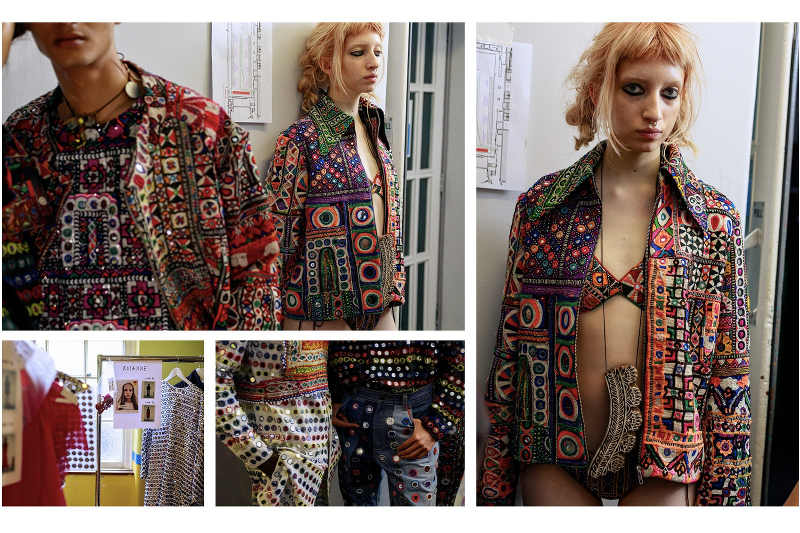 Backstage at ASHISH Spring/Summer 2020 London FW Fashion Week Interview Collection First Look Mirror Inspiration Pieces