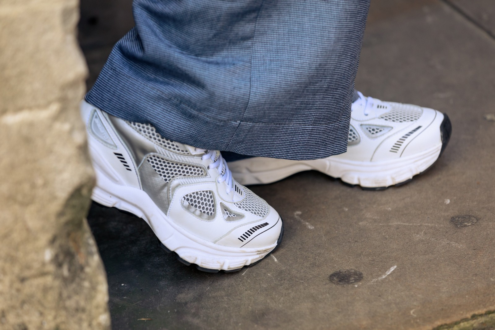 Best Street Style Sneakers London Fashion Week LFW SS20 Nike Shox TL Kendrick Lamar Cortez Prada Cloudbust Thunder Axel Arigato