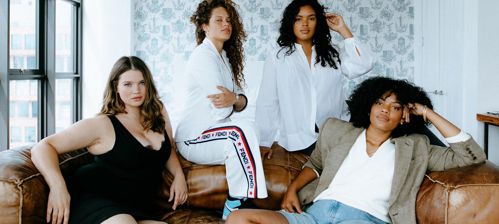 plus size curve IMG Models Tara Lynn Chloé Véro Solange van Doorn Yvonne Simone