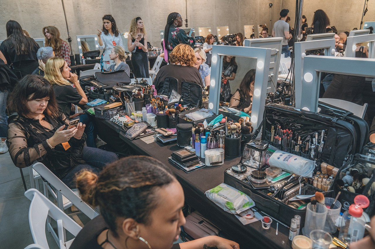 Prada Spring Summer 2020 Runway Show Milan Fashion Week Backstage Beauty Prep Hair Makeup Model Sora Choi