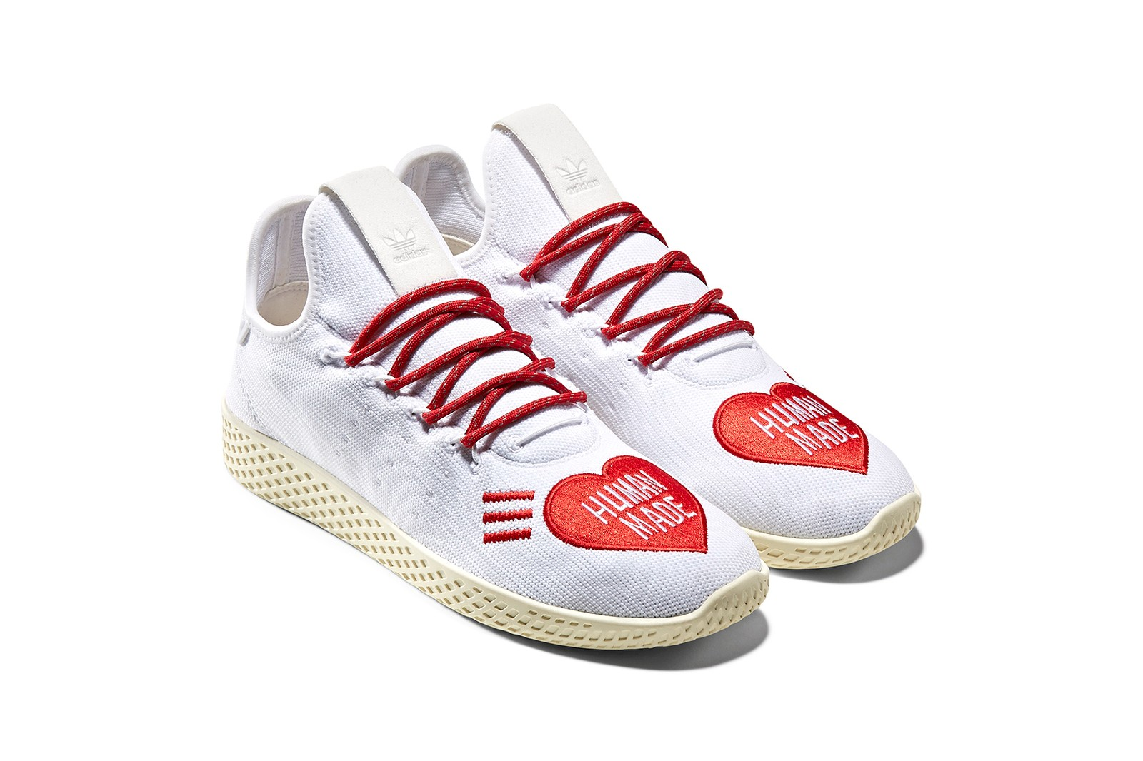 adidas originals pharrell human made nigo collaboration hu nmd tennis solar sneakers trainers