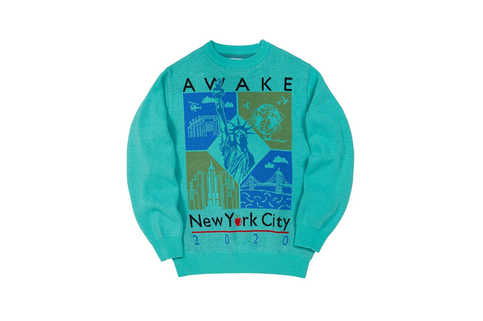 awake ny fall winter collection silk long sleeve shirt green white black egyptian print necklace accessories clothes fashion lookbook