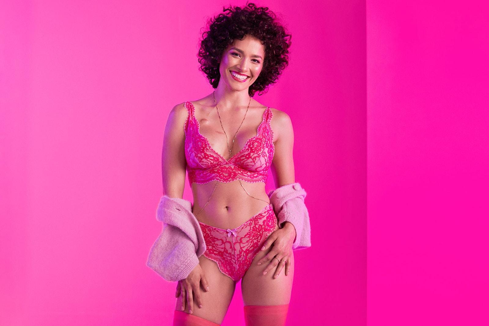 savage x fenty rihanna breast cancer awareness month 2019 lingerie brand underwear bra pink