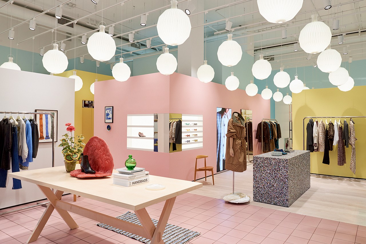 Ganni Copenhagen Danish Fashion Brand Ditte Nicolaj Reffstrup Creative Director CEO Scandinavian New York City NYC Mercer Soho Manhattan Store Interior