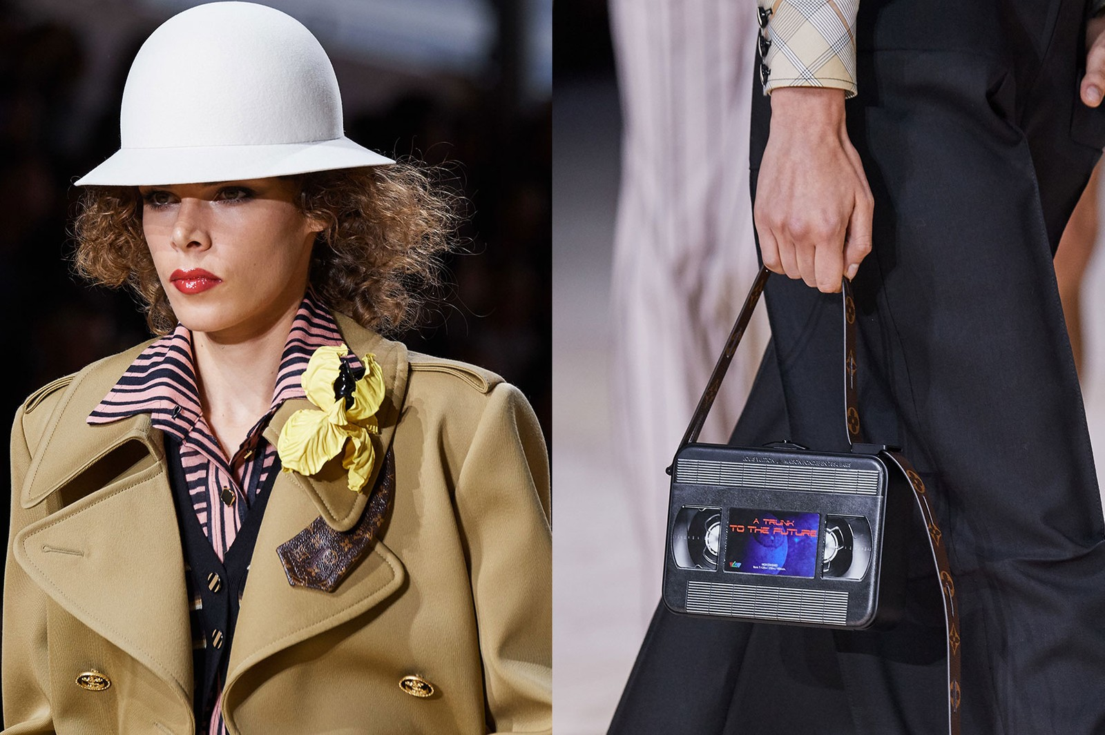 louis vuitton spring summer 2020 collection paris fashion week pfw cour carrée the Louvre nicolas ghesquiere