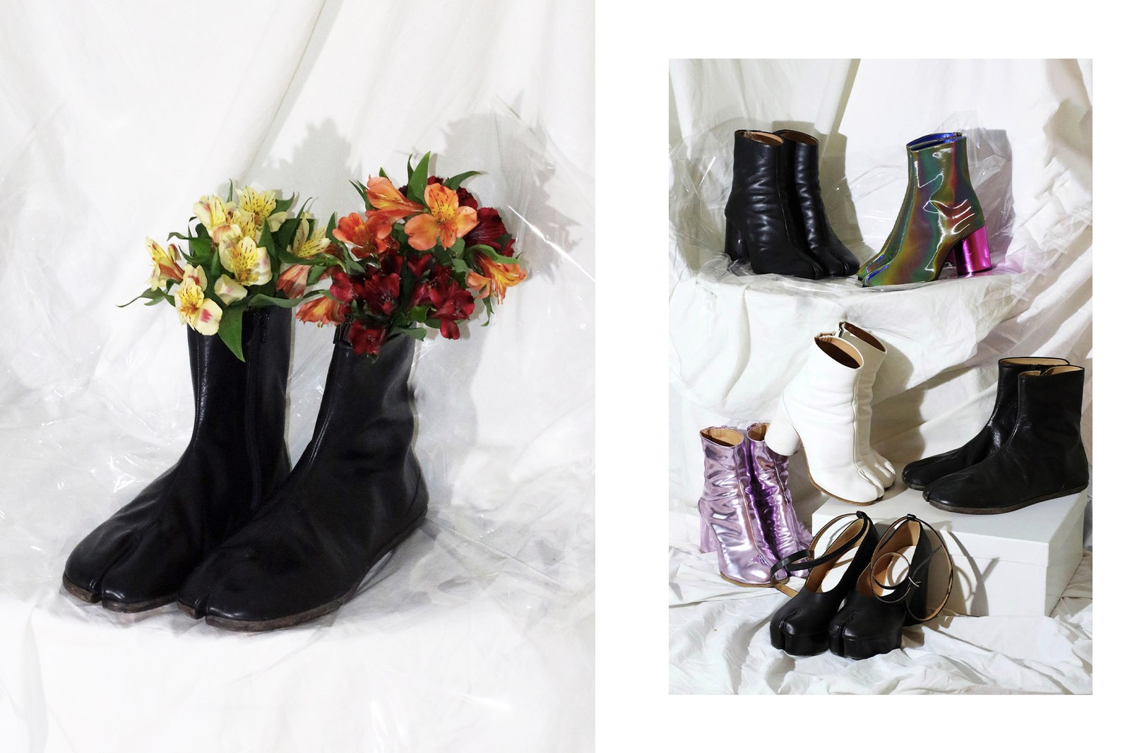 Maison Margiela Martin Margiela Tabi Boot History Editorial Shoot Silhouettes Fashion Shoes