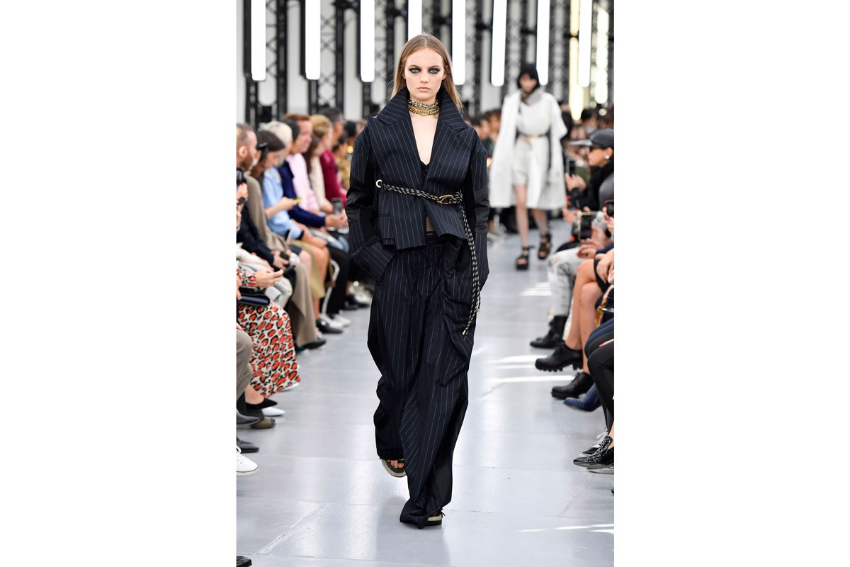 spring summer trends fashion week black sheer animal print suits neon knitwear trench coats