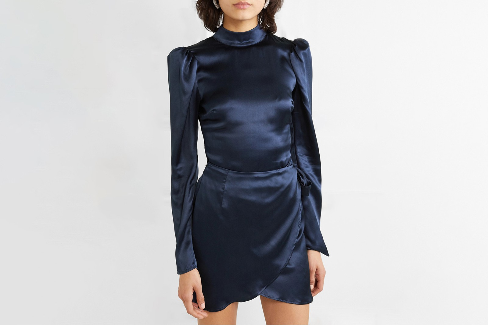 best affordable cocktail party dresses holiday christmas new years versace rotate ganni glitter sparkle blue purple black