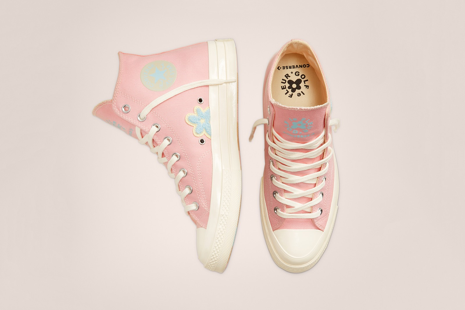 GOLF le FLEUR Gianno Chenille Chuck 70 Pink Green Yellow