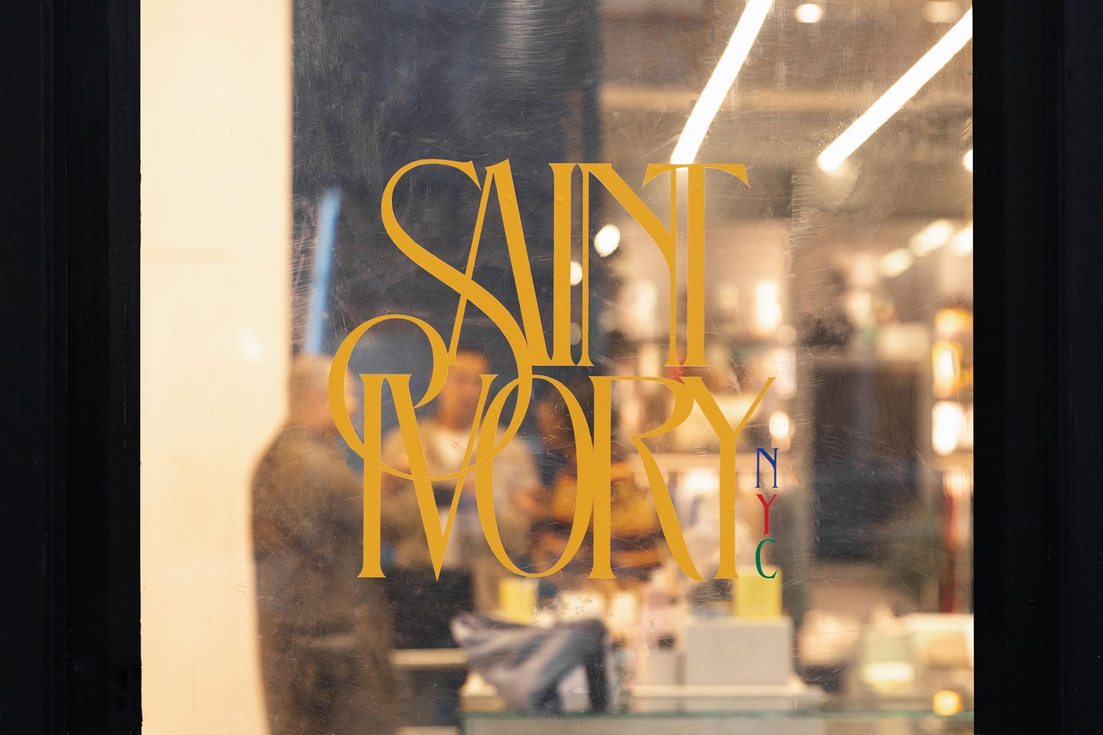Saint Ivory NYC Semester 1 Collection Script Logo Sweater