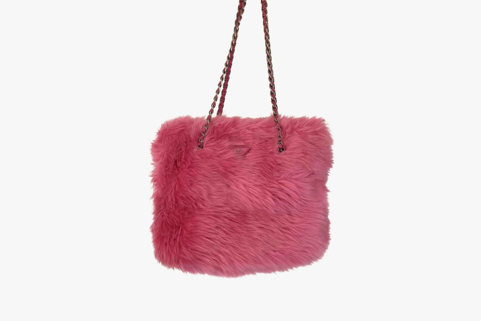 best faux fur shearling designer bags holiday christmas new years balenciaga prada black pink