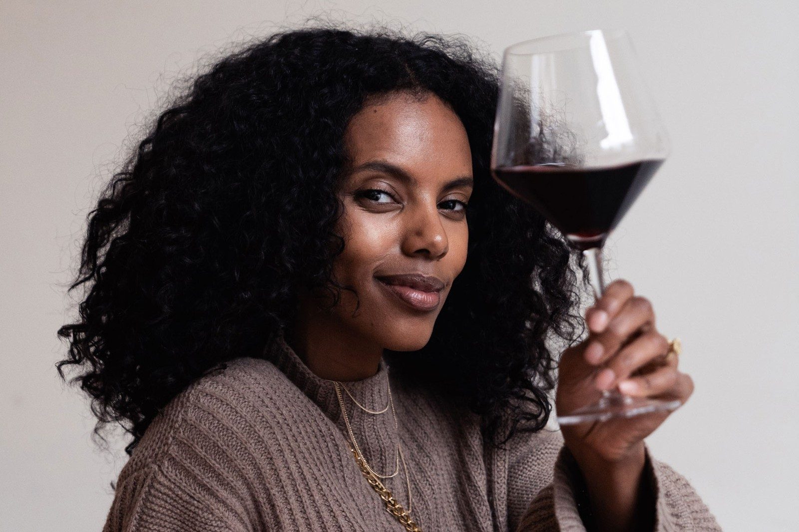 Grace Mahary Model Sommelier Wine