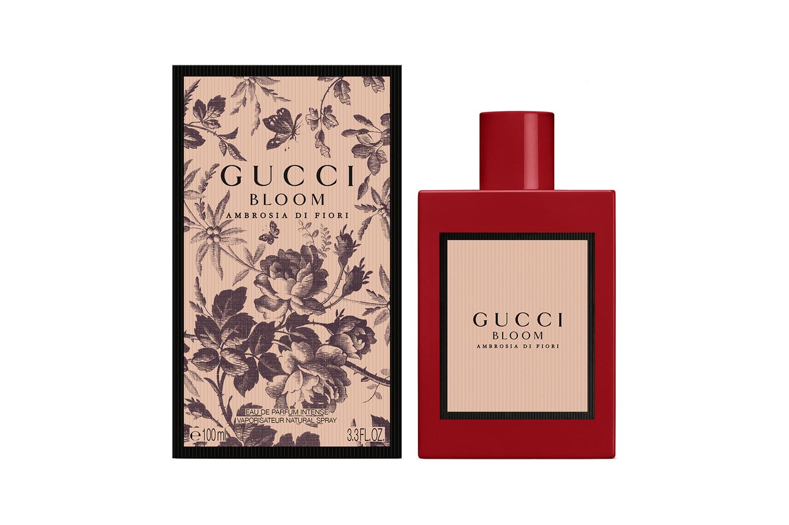 gucci bloom ambrosia di fiori perfume fragrance red bottle