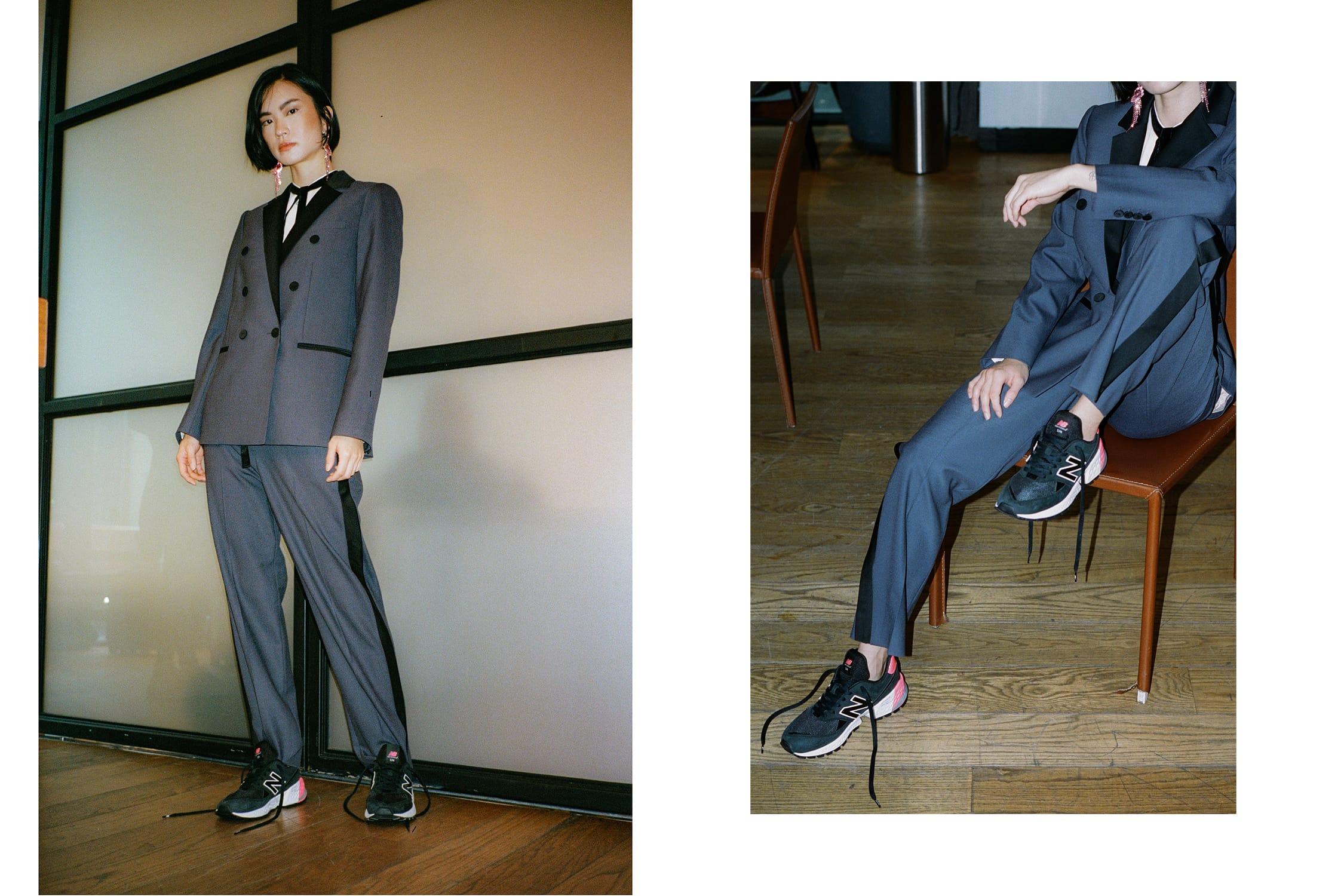 Wear Sneakers With a Women's Suit