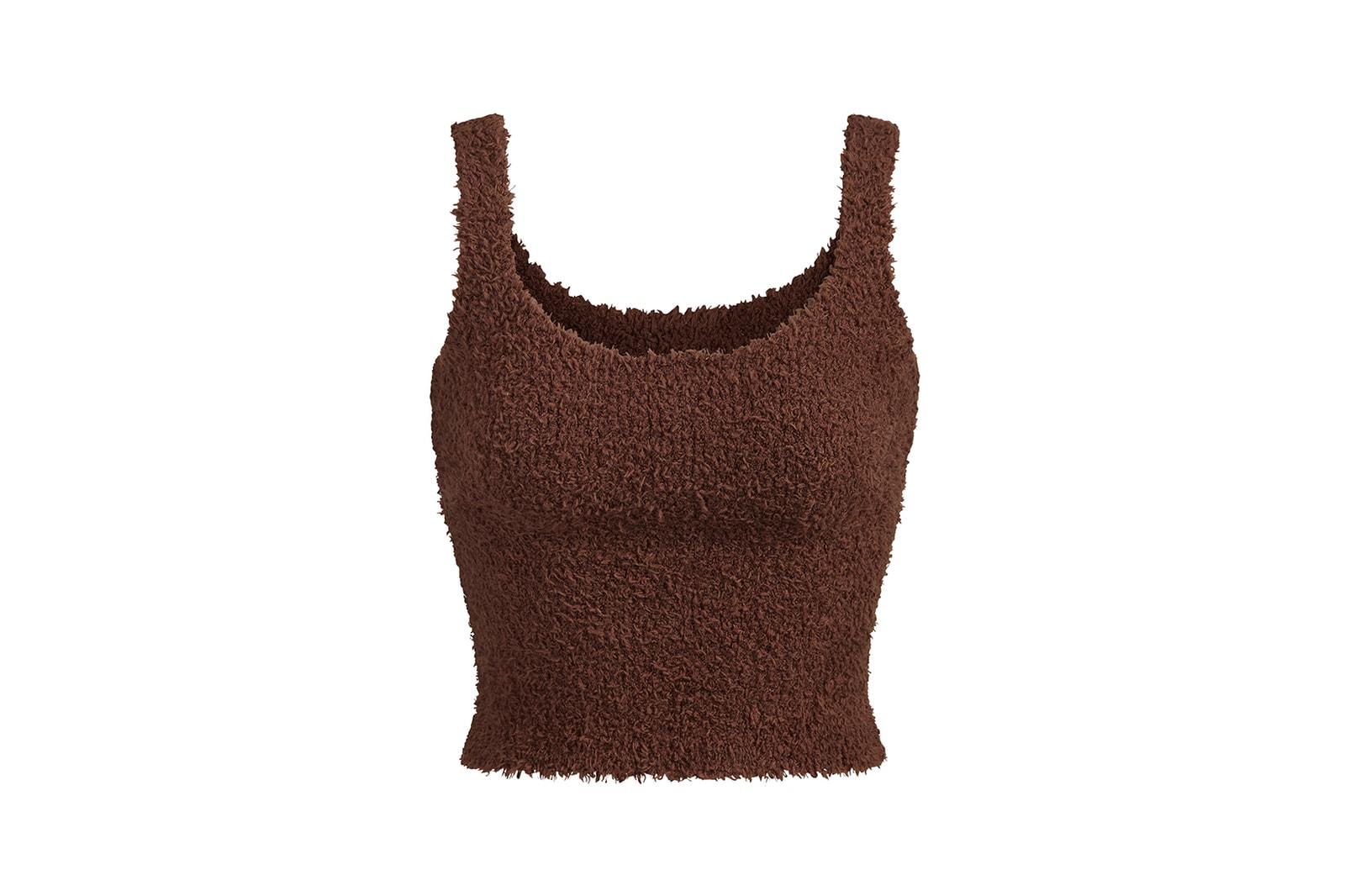 kim kardashian skims cozy collection winter loungewear robes tank top pants