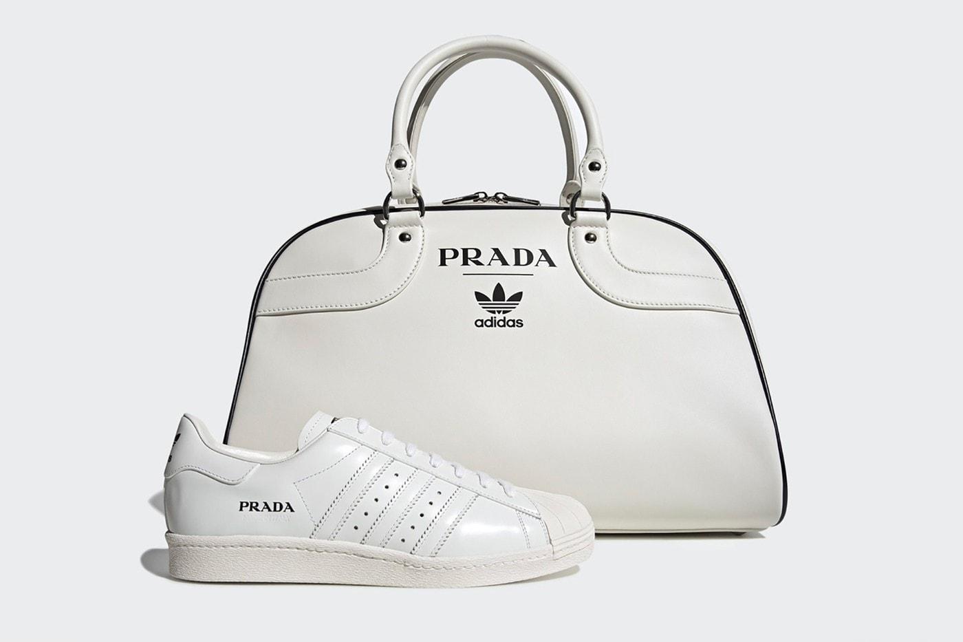 Prada adidas Originals Collaboration Sneaker Superstar Bag White Black Luxury Designer Sports Brand
