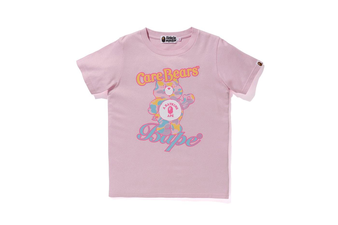 Care Bears x BAPE Ape T-Shirt Blue Bear Hoodie Camo Black