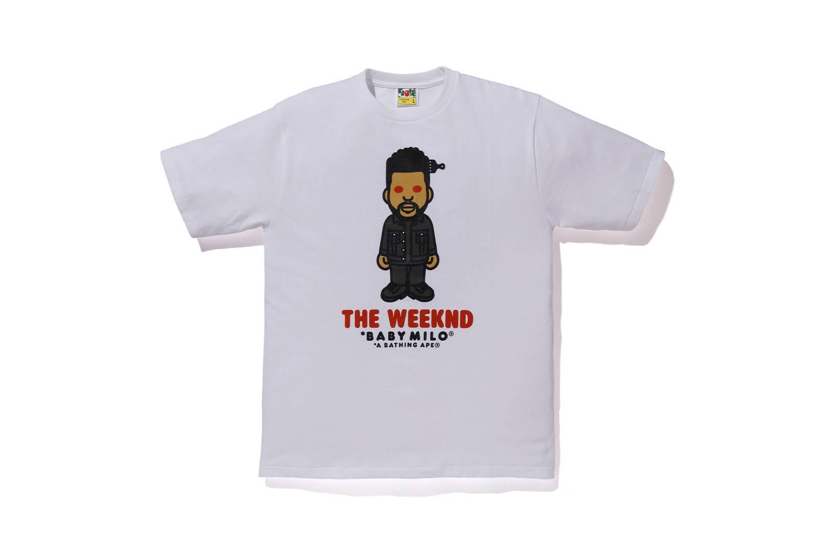 the weeknd a bathing ape xo bape hoodies t-shirts sweatpants collaboration