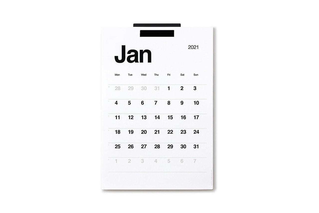 2021 Quarterly Goal Planner Poketo Wall Calendar Personal Organizer Agenda Schedule Design Art